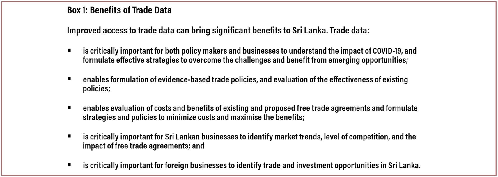 benefits of trade data