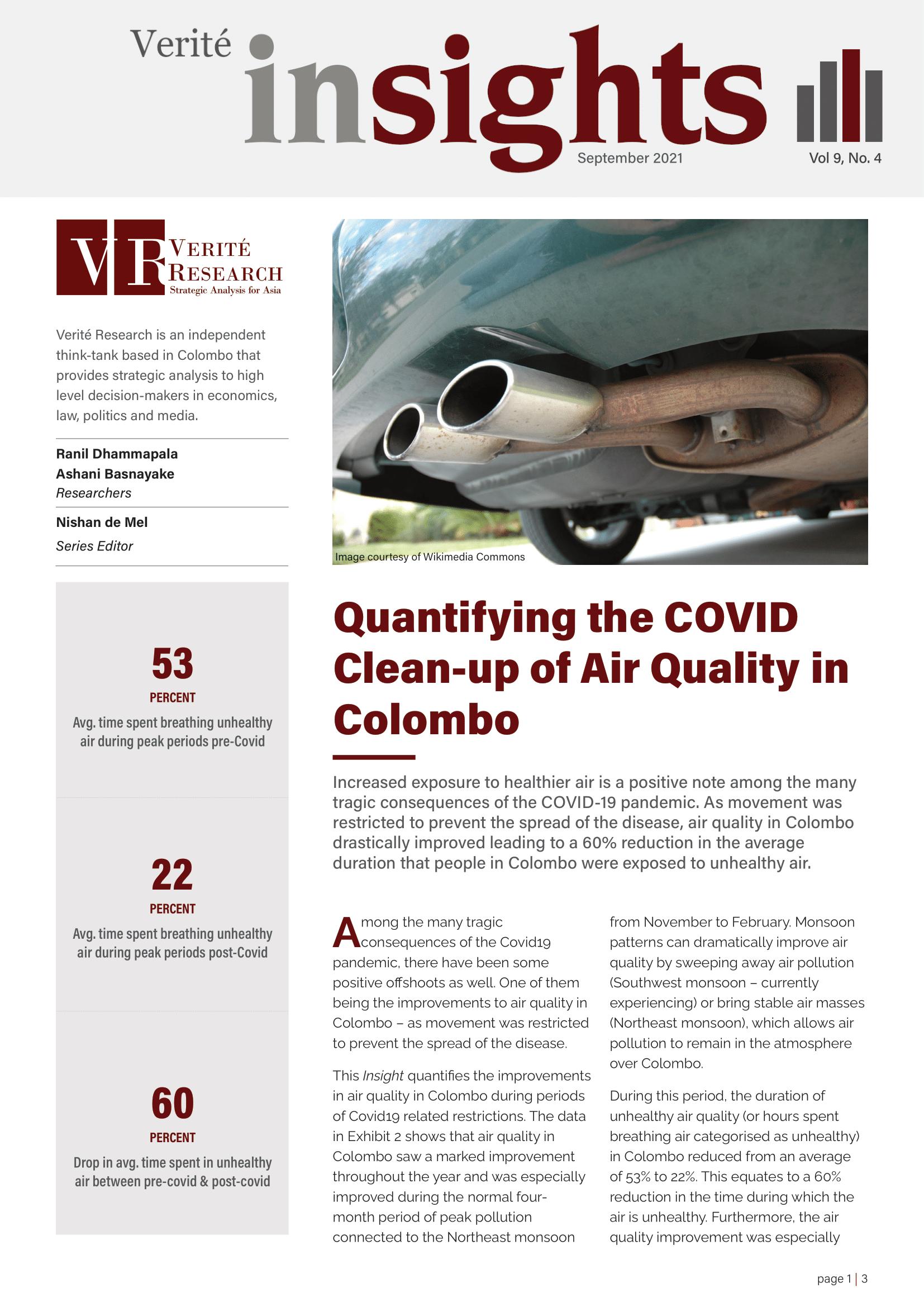 COVID air quality